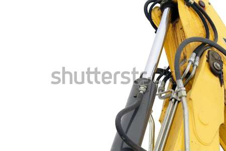 Hydraulic bulldozer machinery isolated on white background Stock photo © blasbike