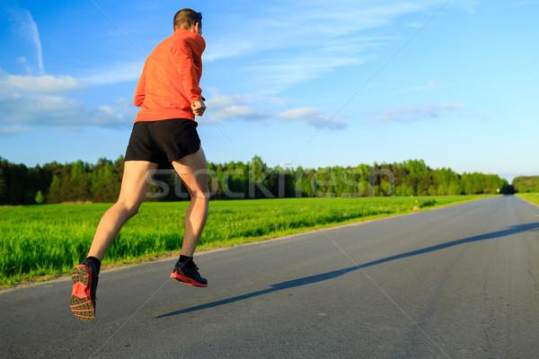 男 を実行して 田舎道 訓練 霊感 モチベーション ストックフォト © blasbike