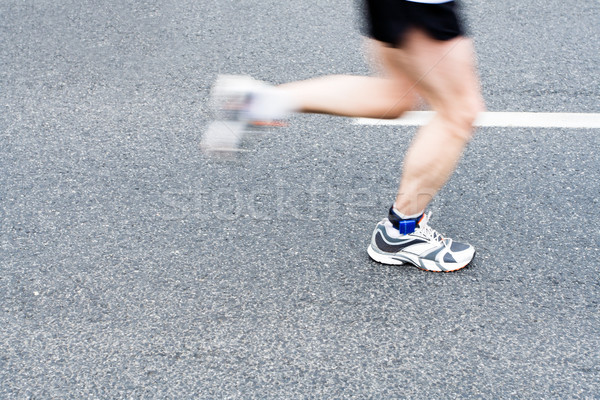 Stockfoto: Lopen · marathon · straat · man · runner