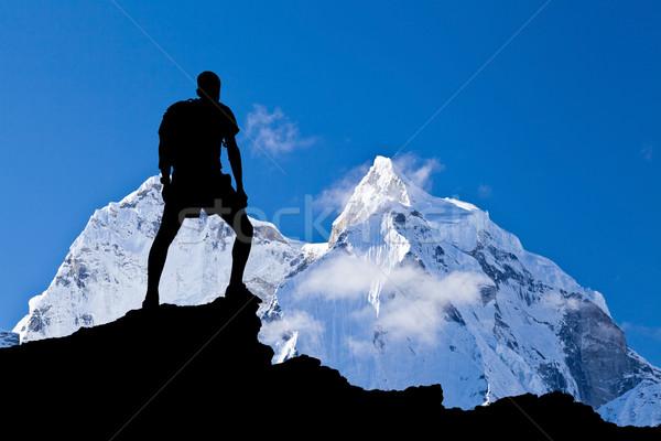 Гималаи пейзаж Гималаи гор Непал природы Сток-фото © blasbike