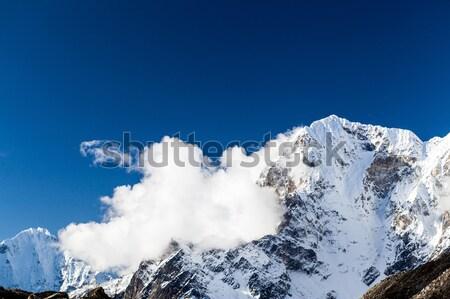 Himalayalar güzel dağlar Nepal Stok fotoğraf © blasbike