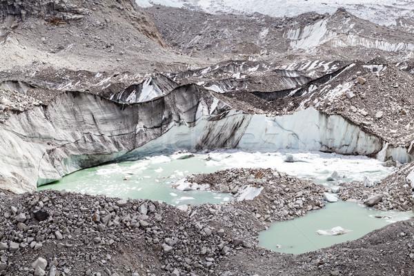 Góry globalne ocieplenie zmiany klimatyczne himalaje lodowiec Zdjęcia stock © blasbike