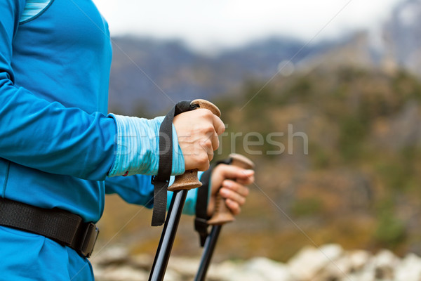 Nordic walking Stock photo © blasbike