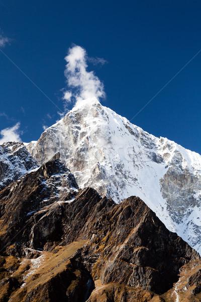 Stok fotoğraf: Himalayalar · manzara · Nepal · dağ · güzel · görmek