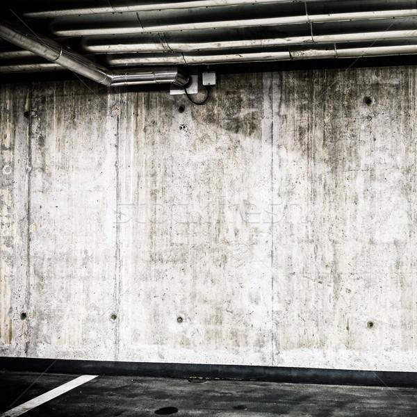 具体的な 壁 地下 インテリア 建設 駐車場 ストックフォト © blasbike