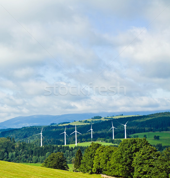 Wind turbines in mountains Stock photo © blasbike