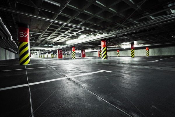 Parking garage underground interior Stock photo © blasbike