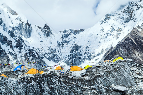 Everest Base Camp mountains landscape Stock photo © blasbike
