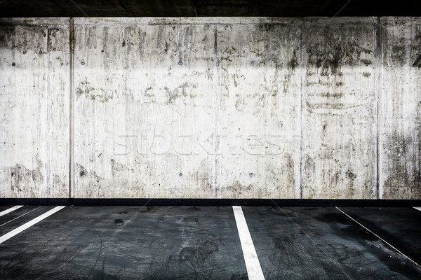 Beton fal földalatti garázs belső textúra Stock fotó © blasbike