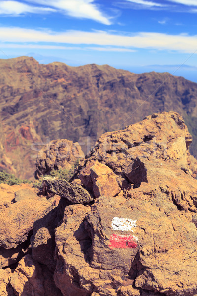 歩道 にログイン 岩 美しい 山 風景 ストックフォト © blasbike