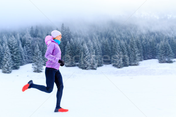 Mulher fitness inspiração motivação corredor esportes Foto stock © blasbike