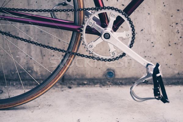 Yol bisiklet beton duvar kentsel sahne bağbozumu Stok fotoğraf © blasbike