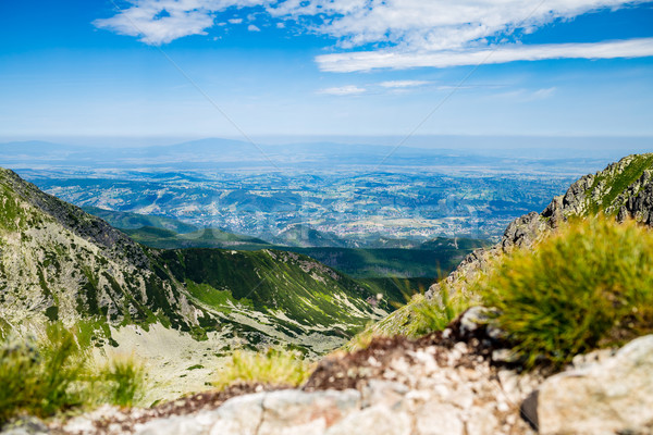Inspiring Mountains Landscape View in Tatra Mountains Stock photo © blasbike