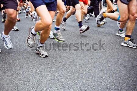 Сток-фото: марафон · Runner · город · Бегуны · работает · спорт