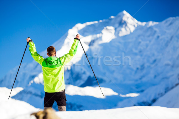 успешный человека походов Гималаи гор Непал Сток-фото © blasbike