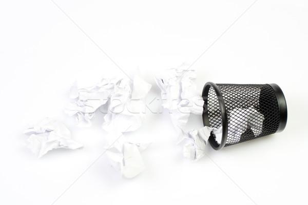 Mesh basket with paper garbage Stock photo © blasbike