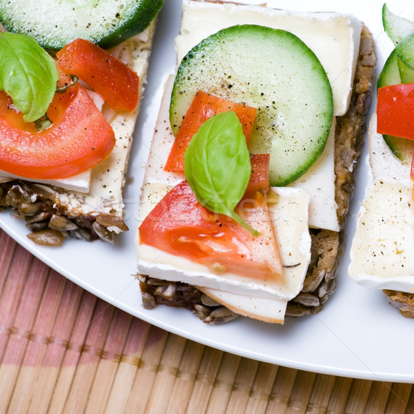Stock photo: Healthy sandwich