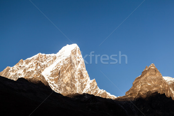 Montanhas pôr do sol paisagem Nepal montanha himalaia Foto stock © blasbike