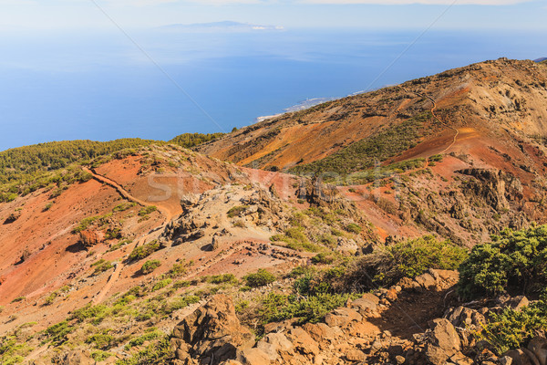 Mountains landscape, islands and ocean Stock photo © blasbike