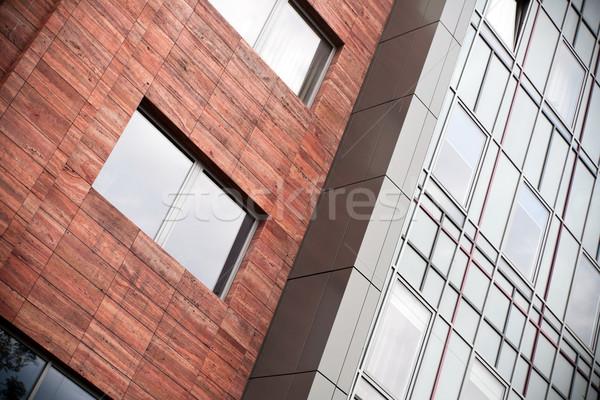 Photo stock: Immeuble · de · bureaux · verre · métal · affaires · bâtiment · design