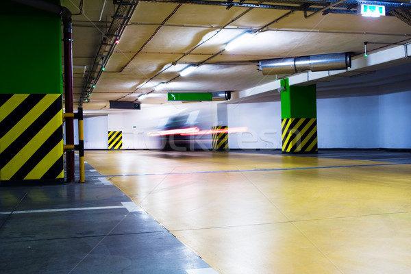Photo stock: Déplacement · floue · voiture · parking · garage · métro