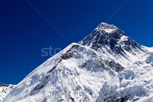 Everest Dağı dağlar Nepal manzara kar Stok fotoğraf © blasbike