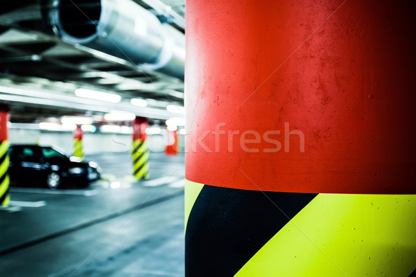 Parking garage in basement, underground interior Stock photo © blasbike