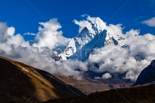 Himalaya Inspirational Landscape, Ama Dablam Mountain in Nepal Stock photo © blasbike