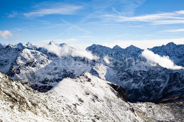 Mountains inspirational landscape view, sunny day in Tatra Mount Stock photo © blasbike