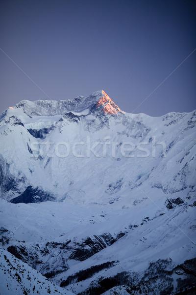 Mountain inspirational landscape, Annapurna range Nepal Stock photo © blasbike