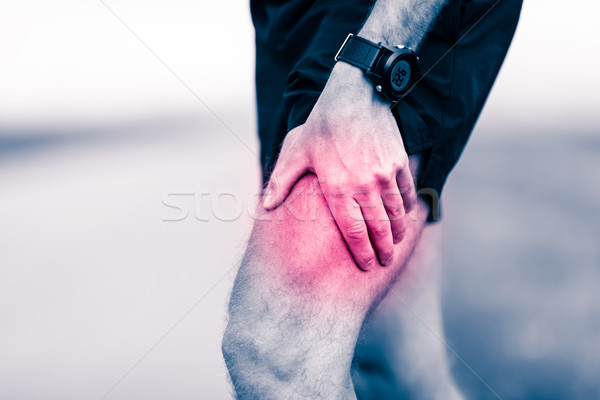 Runner leg pain during training Stock photo © blasbike