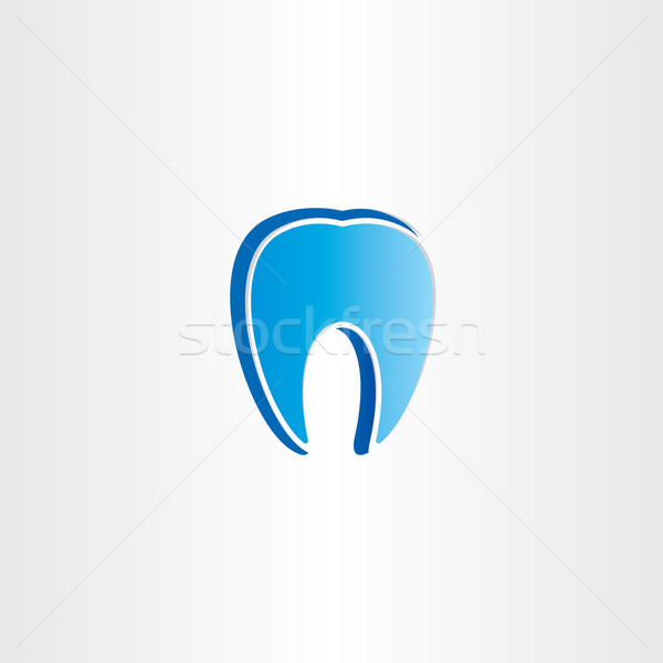 Stock photo: abstract tooth dentist symbol