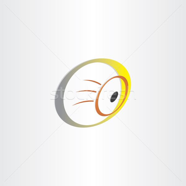 Humanos ojo óptica símbolo diseno resumen Foto stock © blaskorizov