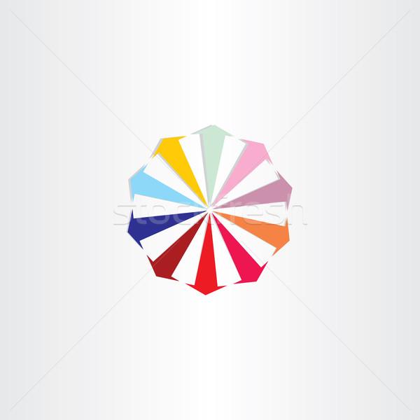 arrows in circle colorfull logo design Stock photo © blaskorizov