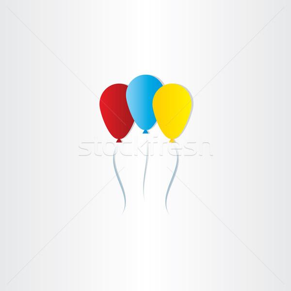 Cor balões celebração símbolo projeto feliz Foto stock © blaskorizov