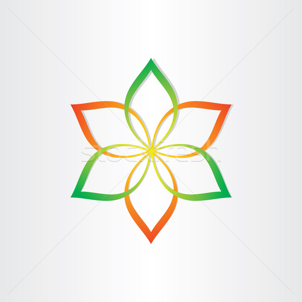 Stock photo: abstract flower icon design element