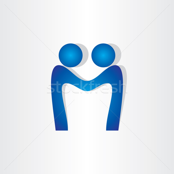 letter m agreement people handshake icon Stock photo © blaskorizov