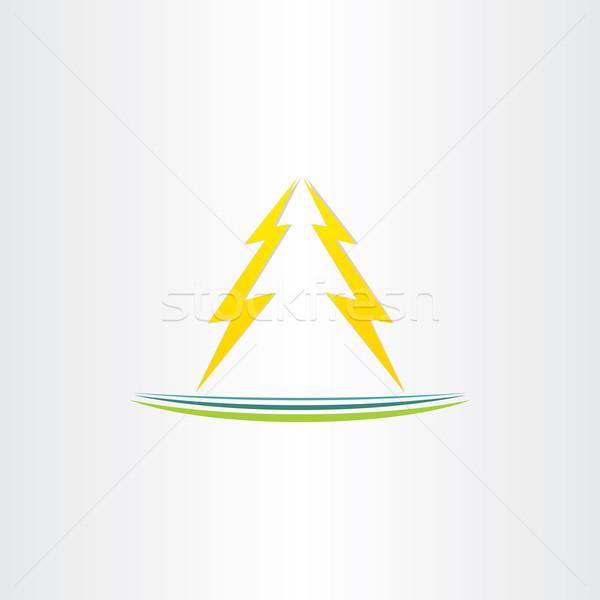Thunder symbole résumé design vecteur lumière Photo stock © blaskorizov