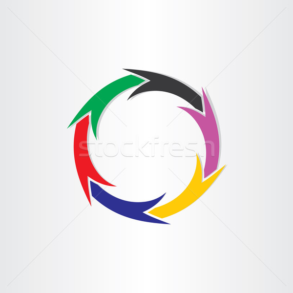 Zdjęcia stock: Kolor · kółko · ruchu · tle