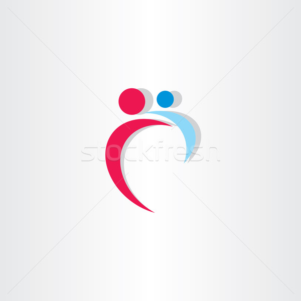 mother and baby icon vector design logo Stock photo © blaskorizov