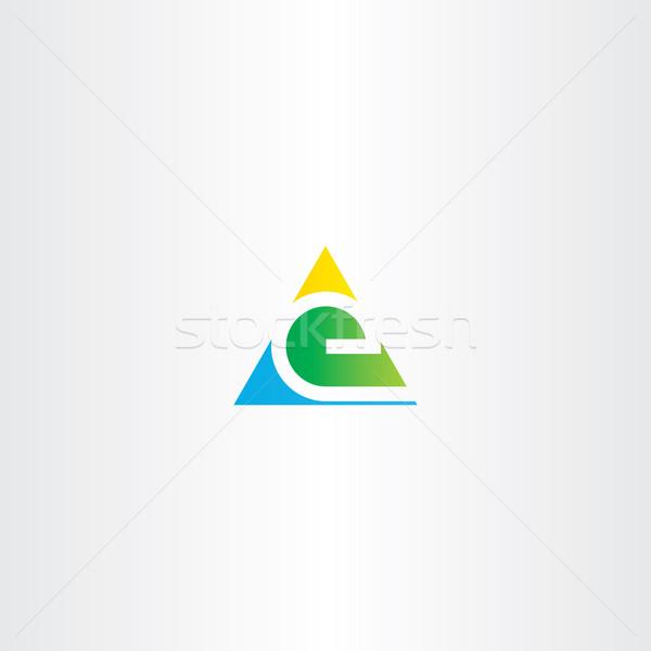 letter e colorful triangle sign element Stock photo © blaskorizov