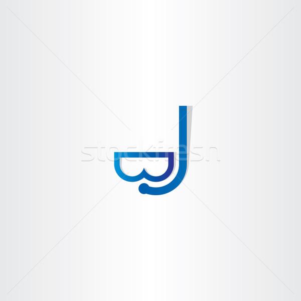 Duiken masker icon vector ontwerp symbool Stockfoto © blaskorizov