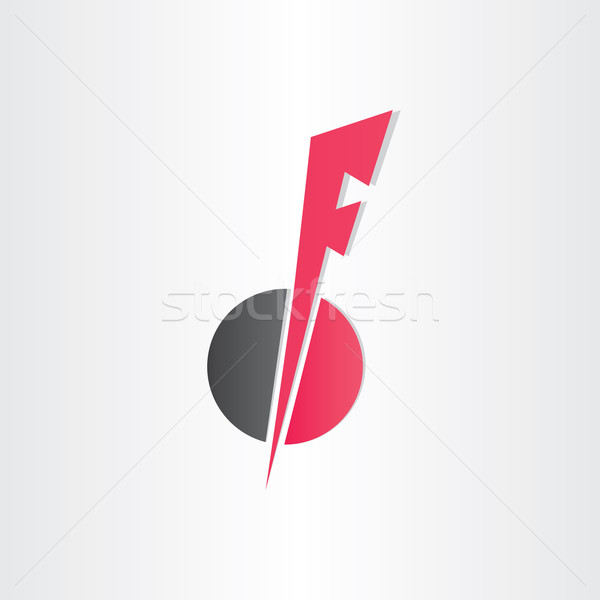 letter f icon design element Stock photo © blaskorizov