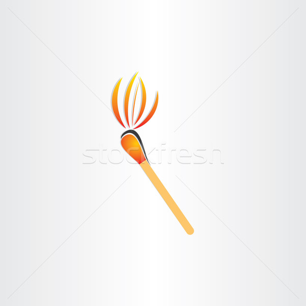 Matches brûlant feu lampe de poche symbole design Photo stock © blaskorizov