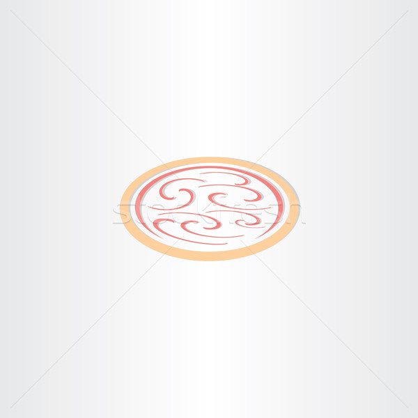 Pizza icône logo vecteur design symbole Photo stock © blaskorizov