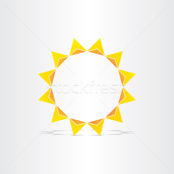 stylized sun rays hot energy icon Stock photo © blaskorizov