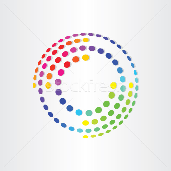Soyut renk circles dizayn arka plan mavi Stok fotoğraf © blaskorizov