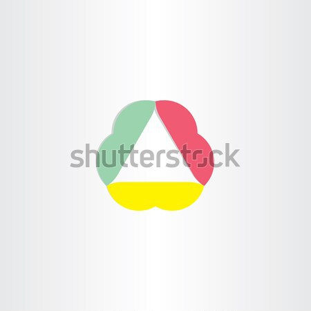 abstract business triangle icon Stock photo © blaskorizov