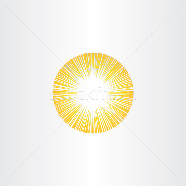 Zonneschijn stralen zon icon zonne-energie symbool Stockfoto © blaskorizov
