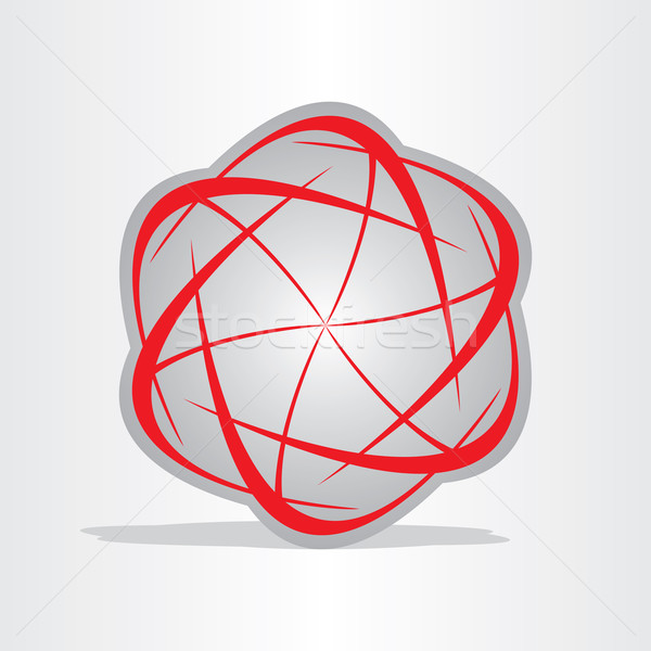 átomo energia abstrato símbolo vermelho Foto stock © blaskorizov